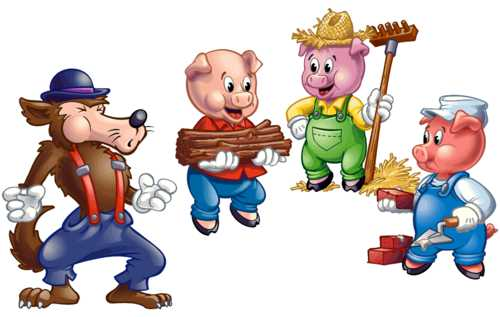 three little pigs illustrations