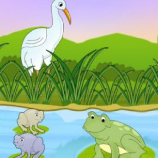 The Frogs And The Crane - Bedtimeshortstories